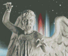 Cross stitch chart, pattern, Doctor Who, Weeping Angels, Dr, Stone