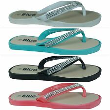 New Girls kids Crystal Bling Flat Flip Flop Thongs in Black White Coral & Mint