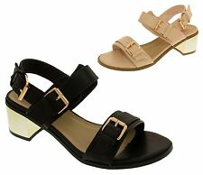 Womens Gladiator Sandals Ladies DOLCIS Strappy Mid Heel Summer Shoes Sz Size 3-8