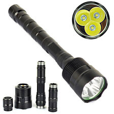 TrustFire 3800LM 3xCREE XM-L T6 LEDS Flashlight Torch +3x18650 Battery +Charger