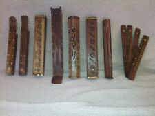 Wood - Incense Burners - Hand Made Carved Wood - some W/Brass inlay