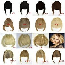 2015 New Clip on human hair lace front nclined Bang Fringe Extensions