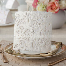 Gorgeous White Floral Cut out Wedding Invitations Cards With Envelopes and Seals