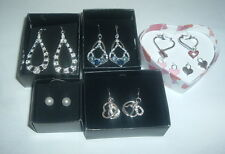 AVON SELECT EARRINGS SILVERTONE NICE SELECTION NIB NEW DISCONTINUED