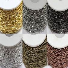 1/10M Silver/Golden Plated Metal Cross Chain (Ring Size: 10x5mm)