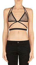 Gucci Women's Black and Nude Mesh Bra Top XXS S M L XL