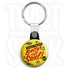 Breaking Bad - Better Call Saul Legal - Keyring Button Badge, Zip Pull Option