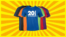 20th Birthday T Shirt Happy Birthday T-Shirt Funny 20 Years Old Tee 7 COLORS
