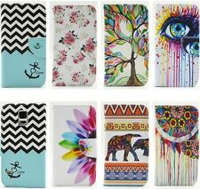 New Painting Wallet Case for Galaxy S6 Edge E5 E7 J1 Note4 iPhone6 Plus LG G4 G3