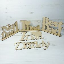 Word Plaque DAD - DADDY WALL HUNG fathers day door wall art best MDF Wooden
