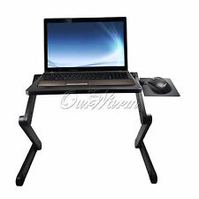 Adjustable Portable Folding Laptop Notebook Table Desk Bed Sofa Tray USB Cooling