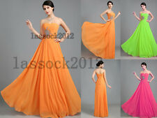 B13 Chiffon Beaded Bridesmaid Party Prom Ball Evening Gowns Dress Size 6-18+