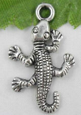 Wholesale 30/60Pcs Tibetan Silver(Lead-Free)Gecko Charms Pendant 26x15mm