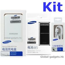 Kit Genuine Original SAMSUNG Galaxy S5 SM-G900 Battery and Charger in sealed NFC
