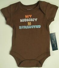 New Infant Baby Boys Girls My Mommy is Exhausted Bodysuit creeper Mother's Day