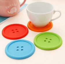 Coffee Placemat Colorful Button Coaster Cup Mug Glass Beverage Holder Pad Mat CH