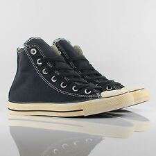 Converse All Star Hi High Top Chuck Taylor Back Zip Black Vintage Trainers