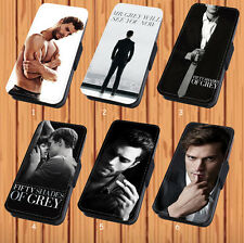 50 Fifty Shades of Grey For Faux Leather Flip iPhone & Samsung Galaxy Case Cover