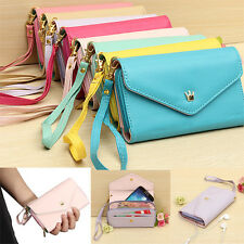 """Crown Wristlet Flip Leather Wallet Case Cover Purse For iPhone 4 4S 5S 5C 6 4.7"""""""
