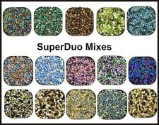 SuperDuos Seed Beads 2-hole Super Duo 2.5x5mm 24 Gram-tube Mix Apprx 360 beads