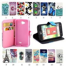Magnetic PU Leather Card Pouch Stand Case Cover for LG Optimus L70 D320 MS323