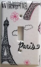 Paris Eiffel Tower Light Switch Plate Cover Outlet Girls Pink Bedroom Wall Decor