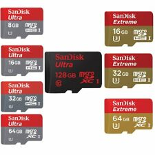 SanDisk  8/16/32/64/128GB Ultra Extreme Micro SD SDHC/SDXC CLASS 10 UHS-1  Card
