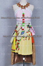 Final Fantasy XIII Cosplay Oerba Dia Vanille Costume Pink dress Full Set Costume