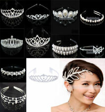 Wedding Party Tiara Bridal Flower Girl Crystal Crown Headband 12 Styles