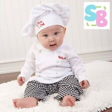 INFANT BABY TODDLER BOYS GIRLS CHEF COOK COSTUME OUTFIT BIRTHDAY PARTY SET + HAT