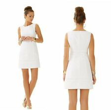 2015 $198 Lilly Pulitzer  Josie Shift Dress with Lace Resort White LWD 00-14 NEW