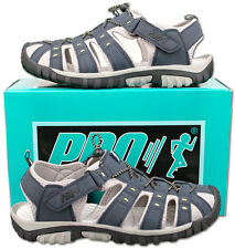 Mens New Blue Velcro Closed Toe Trail Holiday Beach Sandals Size 7 8 9 10 11 12