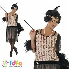 20s COCO FLAPPER GREAT GATSBY - UK 8-18 - womens ladies fancy dress costume