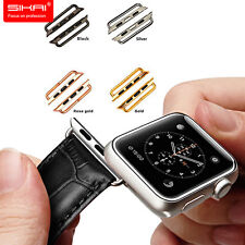 Stainless Steel Adapter for Apple Watch 38mm 42mm Band Connector clasp buckle