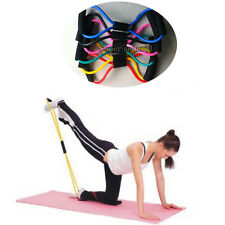 Resistance Training Sport Gym Muscle Yoga Bands 8-Type Fitness Equipment Rope