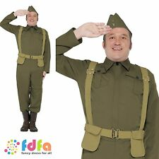 "40s WW2 DADS ARMY UNIFORM HOME GUARD PRIVATE - 38""-44"" mens fancy dress costume"