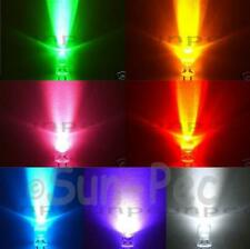 Round LED Light Bulb Emitting Diode Lamp 6colours 10mm 5mm 3mm options