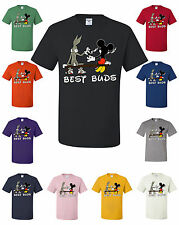 Best Buds Bugs Bunny And Mickey Mouse Smoking Weed 420 Funny T-Shirt