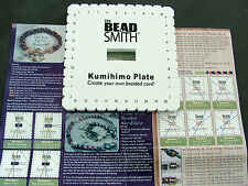 KUMIHIMO SQUARE BRAIDING DISC PLATE MAKES FLAT & ROUND with without INSTRUCTIONS