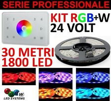 KIT 30 METRI TOUCH PANEL ITALIA 4 ZONE RGB+W 1800 LED 5050 STRIP STRISCIA RGB