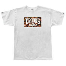 Crooks and Castles Gun Pile Core T Shirt in White (Diamond Topshelf Supply Co)