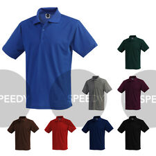 Mens Dry Polo Shirts Performance Wicking Poly Quality Made in USA colors