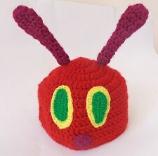 Very Hungry Caterpillar Hat Newborn to Adult Crochet Photo Prop Baby Halloween