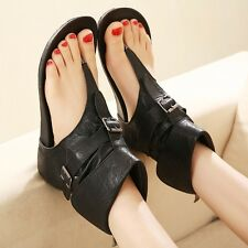 Womens Lady Ankle Boots Flip Flops Flats Roman gladiator Shoes Thong Sandals