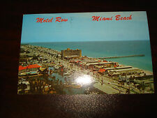 Vintage Postcard Motel Row Miami Beach Inscribed Post Marked 1971