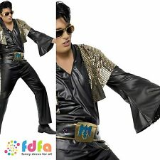 "50s ROCK N ROLL KING ELVIS PRESLEY - 38""-44"" chest - mens fancy dress ocstume"