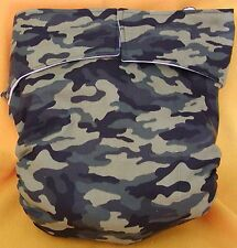 AIO (All In One) Adult Baby Reusable Cloth Diaper S,M,L,XL Camo
