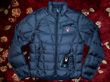 $225 Spyder Men Slate Gray Down Jacket Size Small S Authentic Coat Puffer Primo