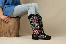 Exclusive Vintage embroidered Snow boots-Women boots-Printing Hand Boots PEfect!