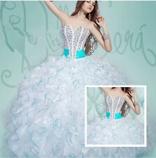 New Beaded Formal Prom Evening Party Quinceanera Pageant Ball  Wedding dress